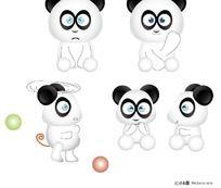 卡通熊猫矢量图 AI