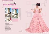 婚纱相册设计模板 PSD