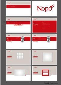 红色调企业网站设计