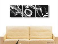 黑白艺术无框装饰画