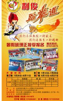 跆拳道暑期培训班招生DM宣传单