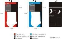 袜子包装设计 CDR