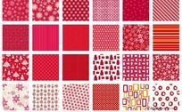 圣诞底纹矢量图之红色系列 AI