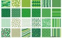 圣诞矢量底纹之绿色系列