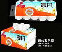 调花之海纸巾包装设计