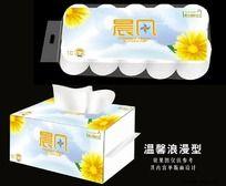 清新卫生纸包装设计
