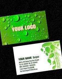 绿色环保名片PSD免费下载