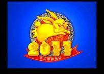 2011辛卯兔年兔子素材