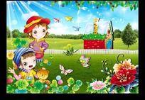幼儿园 广告 儿童节 六一图片