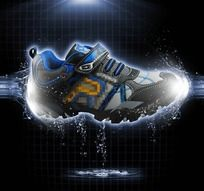 鞋 水 滴 线条 PSD