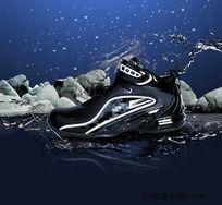 鞋 水 石头 浪 PSD