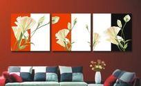矢量花卉无框画设计