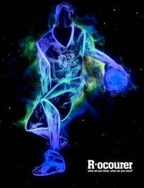 篮球海报-打篮球眩彩光影