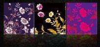 彩色花纹无框画设计