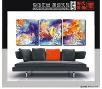 抽象油画手绘无框画设计