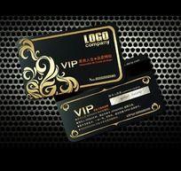 欧式花纹图案VIP卡