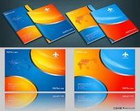 红色蓝色科技企业封面