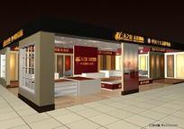 120平方地板店面设计三维模型