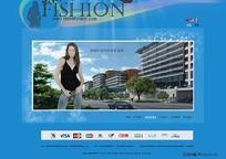 FISHION时尚服装网站首页设计 PSD