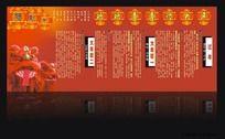 春节民俗风俗习俗展板