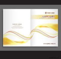 金色、光带画册封面PSD设计