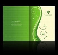 绿色画册封面设计psd
