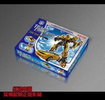 变形金刚玩具包装盒 PSD