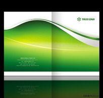 绿色环保画册PSD封面