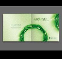绿叶、绿色生态画册封面PSD设计