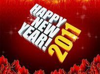2011新年快乐英文字体下载