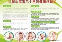 新生宝宝健康问题医院展板