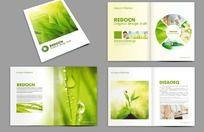 绿色画册设计 PSD