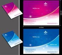 紫色女性行业画册封面PSD
