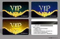 欧式花纹VIP会员卡设计模板PSD