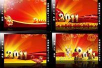 2011年兔年海报背景模板设计PSD分层