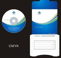 蓝色企业光盘封面设计