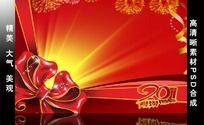2011年红色喜庆背景PSD