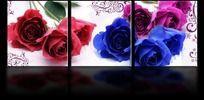 情人节玫瑰花无框画设计