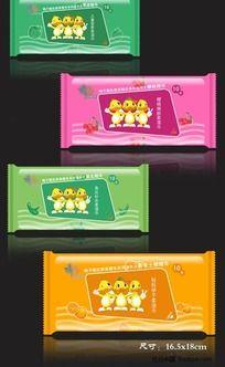 湿巾卡通包装设计
