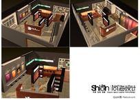 150平皮革布艺展厅3Dmax模型设计