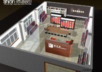 简约风格皮革布艺展厅150平方3D模型