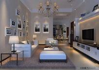 11款 3D客厅模型设计MAX下载