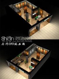 地板店设计三维模型3ds配CAD 3ds