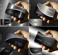 黑色金属质感名片名片设计欣赏
