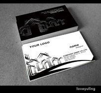 建筑房产物业名片PSD模板下载