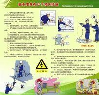 触电事故预防措施安全宣传展板 PSD