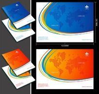 大气跨国集团企业画册封面CDR