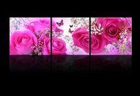 10款 漂亮花卉无框画PSD下载