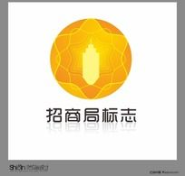 金色大气招商标志CDR