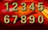 3D立体金色数字设计